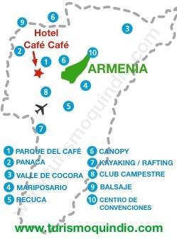 bbicacion Hotel Campestre Cafe Cafe