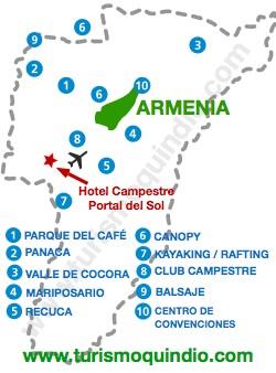 bbicacion Hotel Campestre Portal del Sol
