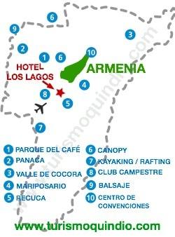 bbicacion Hotel Campestre Los lagos
