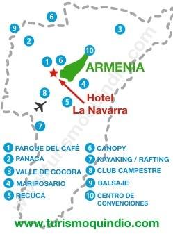 bbicacion Hotel Campestre La Navarra