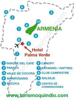 bbicacion Hotel Palma Verde Villas & Hotel