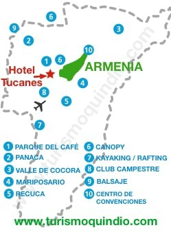 bbicacion Hotel Tucanes