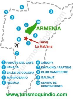 bbicacion Casa de Campo La Habana