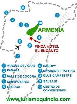 bbicacion Finca Hotel El Encanto