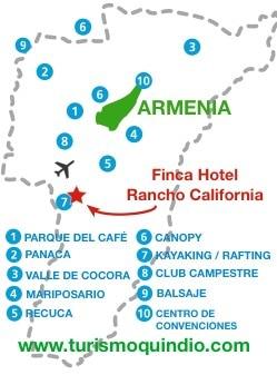 bbicacion Finca Hotel Rancho California