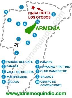 bbicacion Finca Hotel Los Otobos
