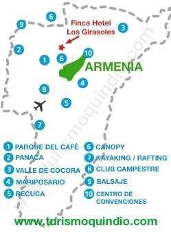 bbicacion Finca Hotel Los Girasoles