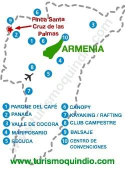 bbicacion Finca Santa Cruz de las Palmas