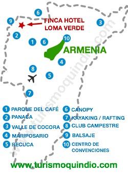 bbicacion Finca Hotel Loma Verde