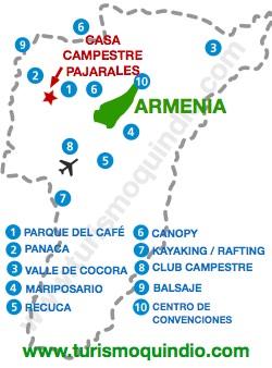 bbicacion Casa Campestre Pajarales