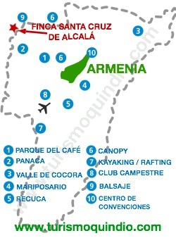 bbicacion Finca Santa Cruz de Alcalá