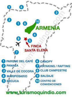 bbicacion Finca Santa Elena