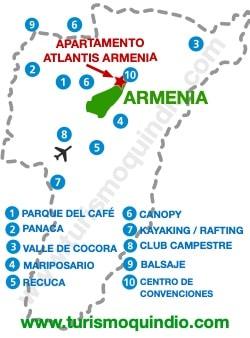 bbicacion Apartamento Atlantis Armenia