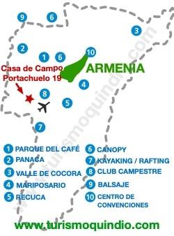 bbicacion Casa de Campo Portachuelo 19