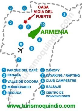 bbicacion Casa de Campo Vigía del Fuerte RS