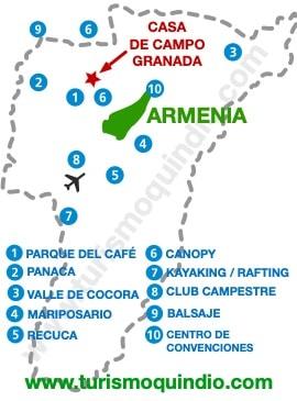 bbicacion Casa Campestre Granada RS