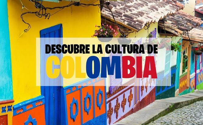 Casas con fachadas de colores típicas de la cultura de Colombia