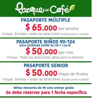 valor entradas parque del cafe 2021