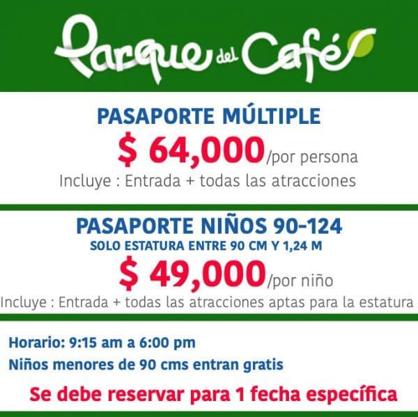 tarifas parque del cafe 2020