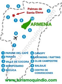 bbicacion Hotel Palmas de Santa Elena